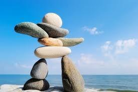 Ocean rocks balance